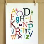 Multi-Color Alphabet Art Print, 11x..