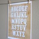Western Alphabet Nursery Art, 8x10