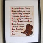 Cowboy Alphabet, 8x10