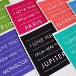 Personalized Travel Wall Art, I Lov..