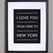 New York art print, 8x10