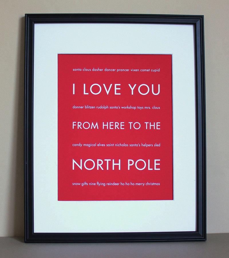 North Pole art print, 8x10