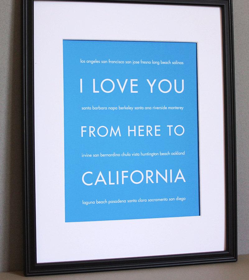California art print, 8x10