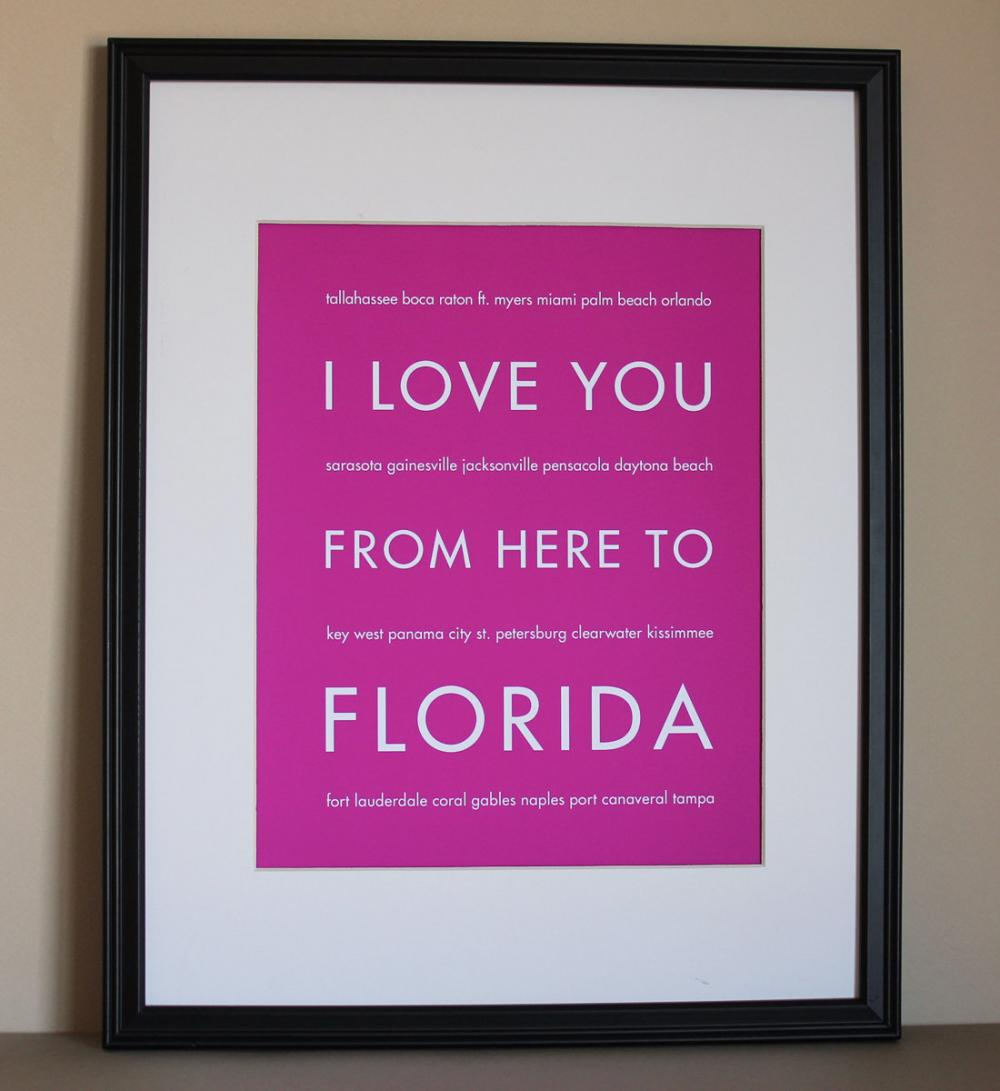 Florida art print, 8x10