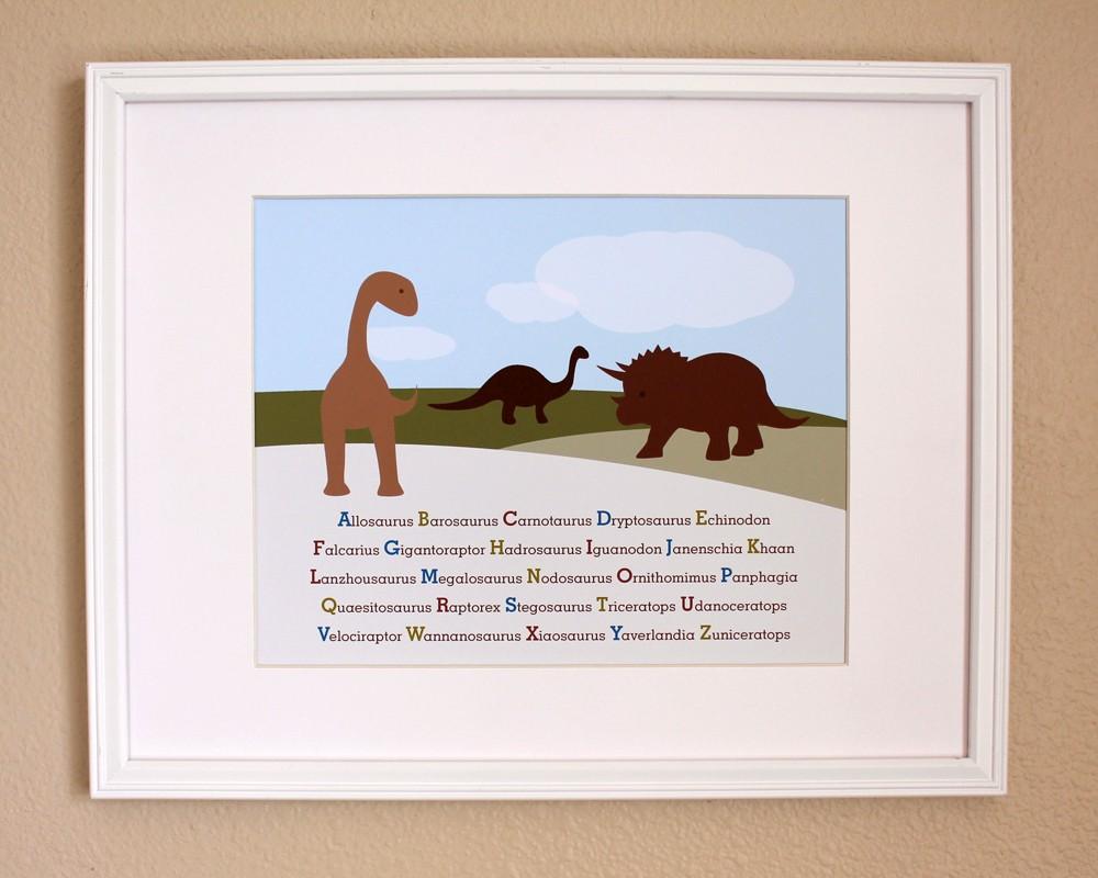 Brown Dinosaurs ABCs, 8x10