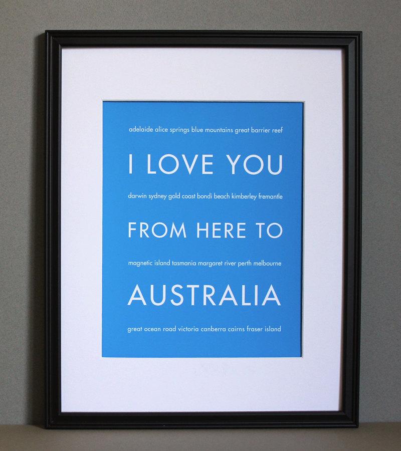 Australia Art Print, 8x10