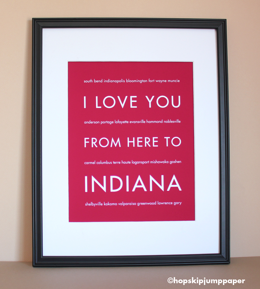 Indiana Art Print, 8x10
