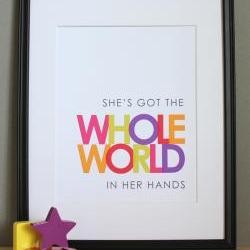 She's Got the Whole World in Her Hands, Christian Art Print