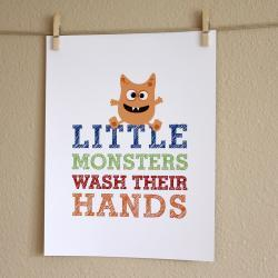 Little Monsters Wash Their..