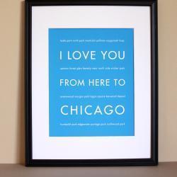 Chicago art print, 8x10