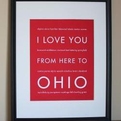 Ohio Art Print, 8x10