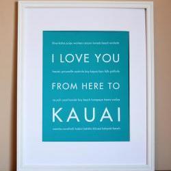Kauai Art Print, 8x10