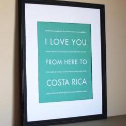 Costa Rica Art Print, 8x10