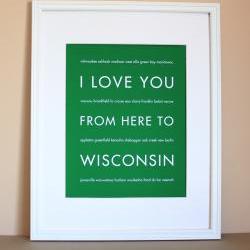 Wisconsin Art Print, 8x10