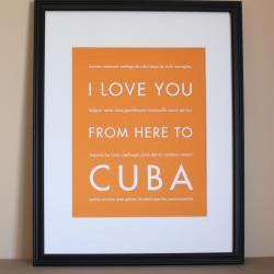 Cuba art print, 8x10