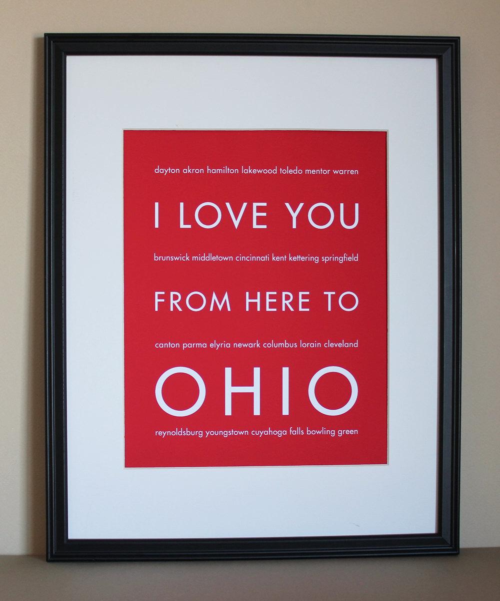 Ohio Art Print, 8x10 On Luulla